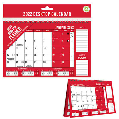 £3.49 • Buy 2022 Desk Top Flip Month To View Stand Up Office Home Planner Calendar Organiser