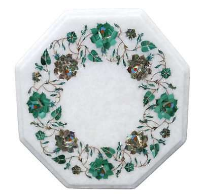 £190.02 • Buy 12  Side Table Top Marble Inlay Floral Handmade Home & Garden Decor