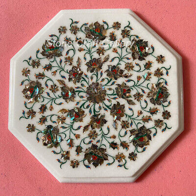 £182.52 • Buy 12  Marble Side Table Top Inlay Floral Handmade Home & Garden Decor