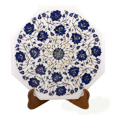 £260.10 • Buy 15  White Marble Table Top Semi Precious Stones Floral Inlay Room Home Decor