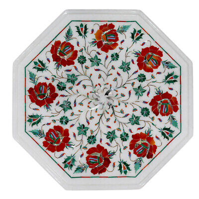 £166.23 • Buy 12  Marble Inlay Side End Table Top Handmade Pietra Dura Art Home Office Decor