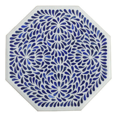 £240.54 • Buy 18  Marble Inlay Side End Table Top Handmade Lapis Pietra Dura Home Office Decor