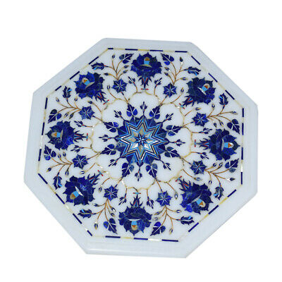 £215.12 • Buy 15  Marble Side Table Top Floral Inlay Pietra Dura Art For Home Decor And Garden