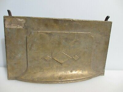 £50 • Buy Victorian Brass Fire Front Hood Canopy Antique Fireplace Vintage Old 18 X10.5