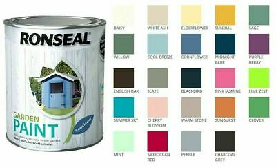 £7.89 • Buy Ronseal Outdoor Garden Paint - For Exterior Wood Metal Stone Brick - All Colours