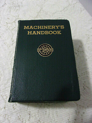 $24.99 • Buy MACHINERY'S HANDBOOK 13th Edition Vintage Machine Shop Reference Book 1946