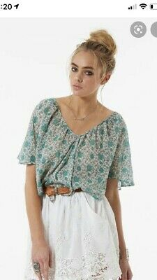 AU150 • Buy SPELL & The Gypsy Collective Sage Kombi Flutter Top Like New S Boho Hippy