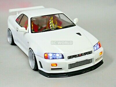 £57.62 • Buy 1/10 RC Car BODY Shell NISSAN SKYLINE R34 190mm *FINISHED* WHITE
