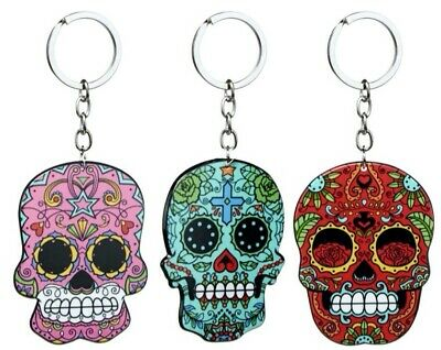 £1.99 • Buy Mexican Sugar Skull Keyring. Mayan Zombie Gothic Day Of The Dead All Souls Day