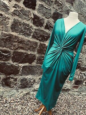 £10 • Buy Gok Wan Green Knot Front Dress. Size - 14********free Postage*****************