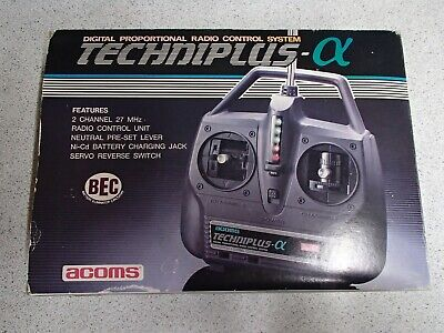 £69.99 • Buy Acoms Techniplus AX 2 Channels Vintage Digital Proportional Radio Control System