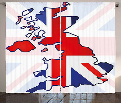 £51.99 • Buy Union Jack Curtains Country Map Flag