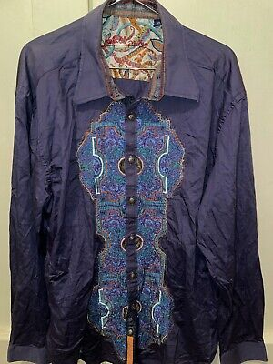 $44.88 • Buy Robert Graham Western Style Embroidered Mens Button Shirt 2XL