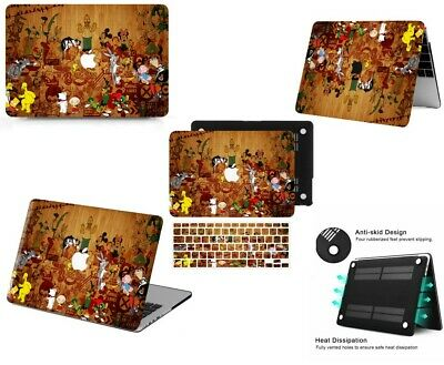 $24.92 • Buy Creative Cartoon Plank Pattern Hard Cut Out Rubberized Case KB Cover For Macbook
