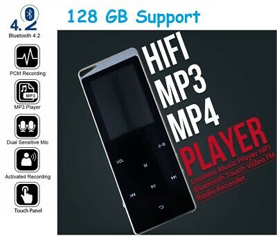 £26.99 • Buy Support 128GB Bluetooth MP4 Media MP3 Player Recorder Sport Music Portable * UK*
