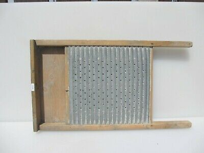 £30 • Buy Vintage Wooden Washboard Galvanised Steel Iron Wood Antique Clothes Washer Old