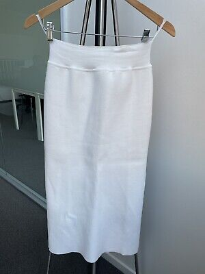 AU150 • Buy Scanlan Theodore Crepe Knit Skirt White Size L As New