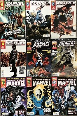£14.95 • Buy Marvel Legends/Avengers Unconquered/Mighty World Of Marvel 9 Issue Lot/Bundle