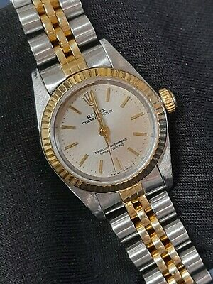 $ CDN5493.95 • Buy Rolex Oyster 25mm Ladies 18ct Yellow Gold & Stainless Steel -1999 - Pretty Watch