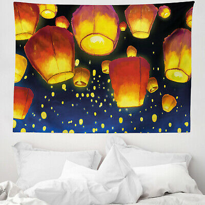 £16.99 • Buy Lantern Microfiber Wide Tapestry Floating Fanoos Chinese