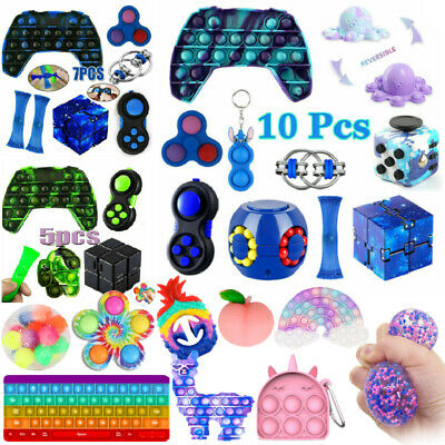 £11.99 • Buy 1-10PC Fidget Toy Set Infinity Cube Simple Dimple Stress Relief Stress Ball Game