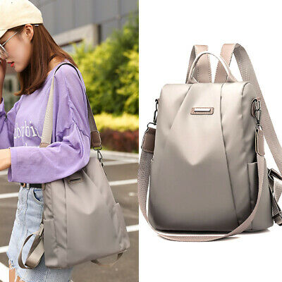 AU18.36 • Buy Women Travel Backpack Waterproof Oxford Cloth Anti-theft Double Shoulder Bag