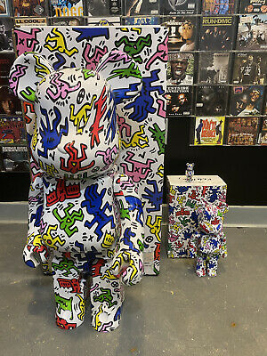 $3250 • Buy Keith Haring 1000% Be@rbrick Bearbrick Full Set 400%, 100%. Collection Rare #1