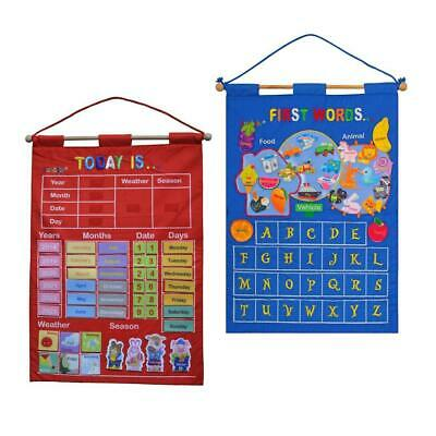 £13.40 • Buy My Calendar Fabric Wall Hanging Seasonal And Letter Learning Toys