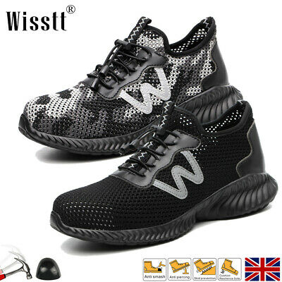 £24.99 • Buy Womens Steel Toe Cap Safety Shoes Trainers Hiking Ankle ESD Mens Work Boots UK