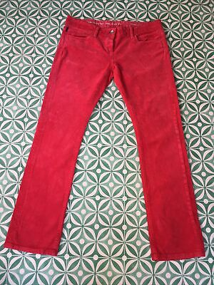 £17 • Buy Howies Red Fine Cord Jeans/ Corduroy Trousers, Size 30/12,...