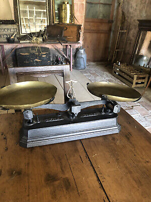 £35 • Buy Antique French Cast Iron Kitchen Weighing Scales
