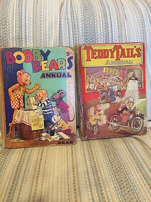 £20.99 • Buy Three Vintage Bobby Bear And Teddy Tails Annuals From The 1930s