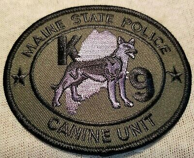 $6.84 • Buy ME Maine State Police Canine Unit Patch