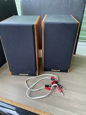 £50 • Buy 2x RUARK EPILOGUE SPEAKERS IN NATURAL CHERRY WOOD C/W CABLES HOME CINEMA /STERO