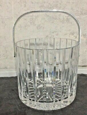 £12.50 • Buy Vintage ATLANTIS Clear Ribbed Ice Bucket With Silver Chrome Handle