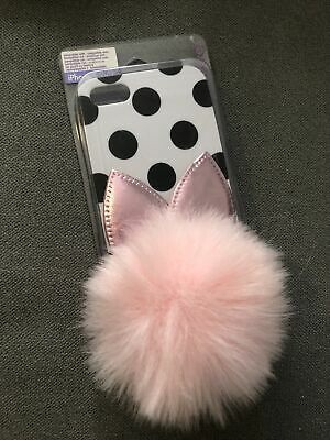 £2.50 • Buy Claires Iphone 5/5S/SE Case - Polka Dot Bunny Ears And Pink Fluffy Pom Pom £12