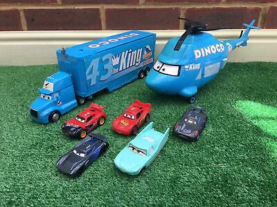 £19.99 • Buy Disney Cars Dinoco Lorry Truck Playset And Helicopter Plus 5 Cars
