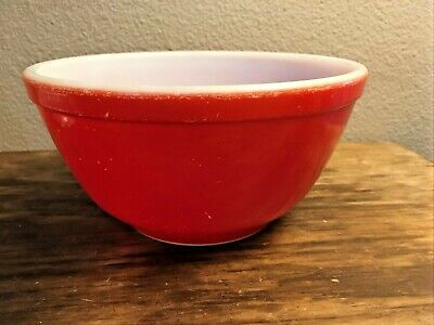 $19.95 • Buy Vintage Pyrex Mixing Nesting Bowl #402 Ovenware 1 1/2 Qt Red Primary Colors