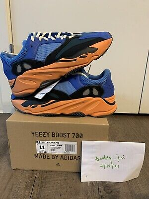 $ CDN459.48 • Buy Adidas Yeezy Boost 700 Bright Blue Size 11 GZ0541 NEW (DS) IN HAND Authentic