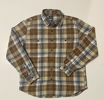 $16.75 • Buy J Crew New York Sportsman's Outfitters Plaid Flannel Shirt Mens Size L Large
