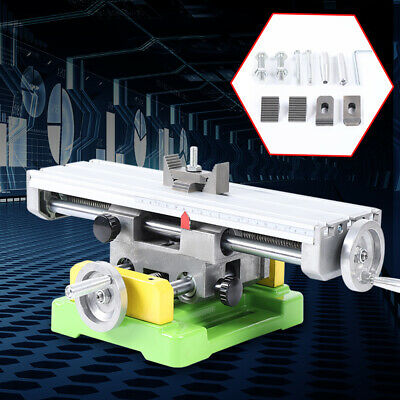 $81 • Buy Compound Milling Machine Work Table 2 Axis Cross Slide Bench Drill Vise Fixture