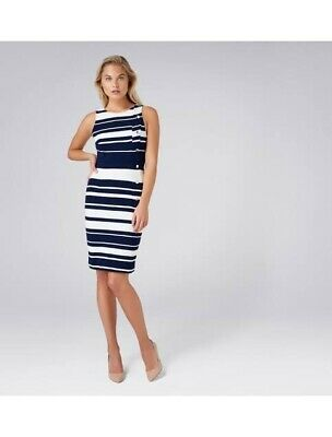 AU36 • Buy BNWT FOREVER NEW Bianca Button Detail Dress (Navy, White) Size 10