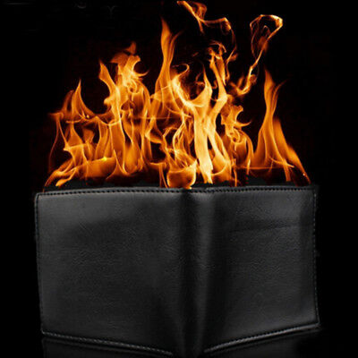 £5.64 • Buy Magic Trick Flame Fire Wallet Leather Magician Stage Perform Street Prop Show CW