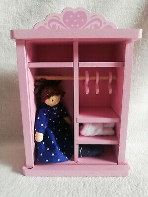 £4.97 • Buy Le Toy Van Dolls House Furniture Wardrobe With Dress Up Figure