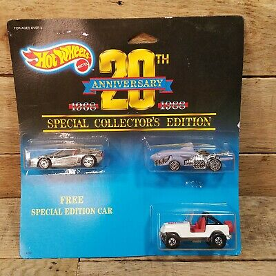 £25.86 • Buy Hot Wheels 20th Anniversary 1968 - 1988 3 Car Set Special Collector's Edition #4