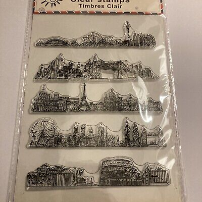 £2.50 • Buy Clear Stamp City Skylines  Stamp Set 8x6