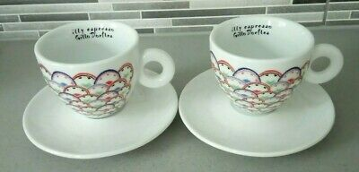 £34.99 • Buy Illy Art Collection Cappuccino Cup & Saucer X2 Designed By Gillo Dorfles (vgc+)