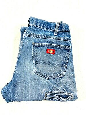 $27.59 • Buy Vtg Dickies Mens Blue Relaxed Fit Double Knee Denim Carpenter Jeans Size 16X32