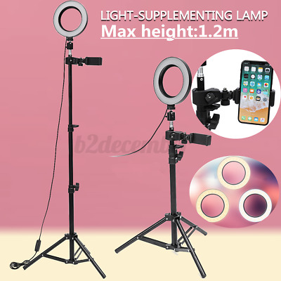 AU13.80 • Buy Phone Tripod With Light Stand Holder Flexible Adjustable Color LED Selfie Rin