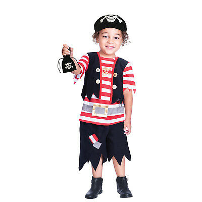 £8.99 • Buy Kids Boys Pirate Ship Mate Buccaneer Fancy Dress Captain Costume Outfit New